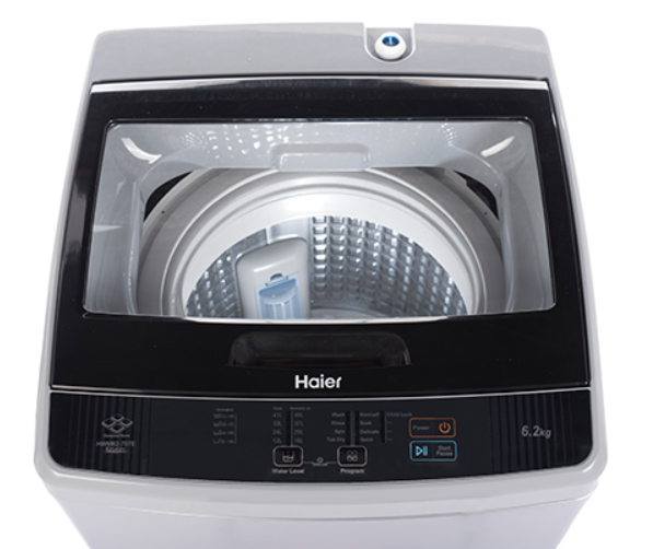 Haier 6.2 kg Fully-Automatic Top Loading Washing Machine (HWM62-707E, Silver Grey)