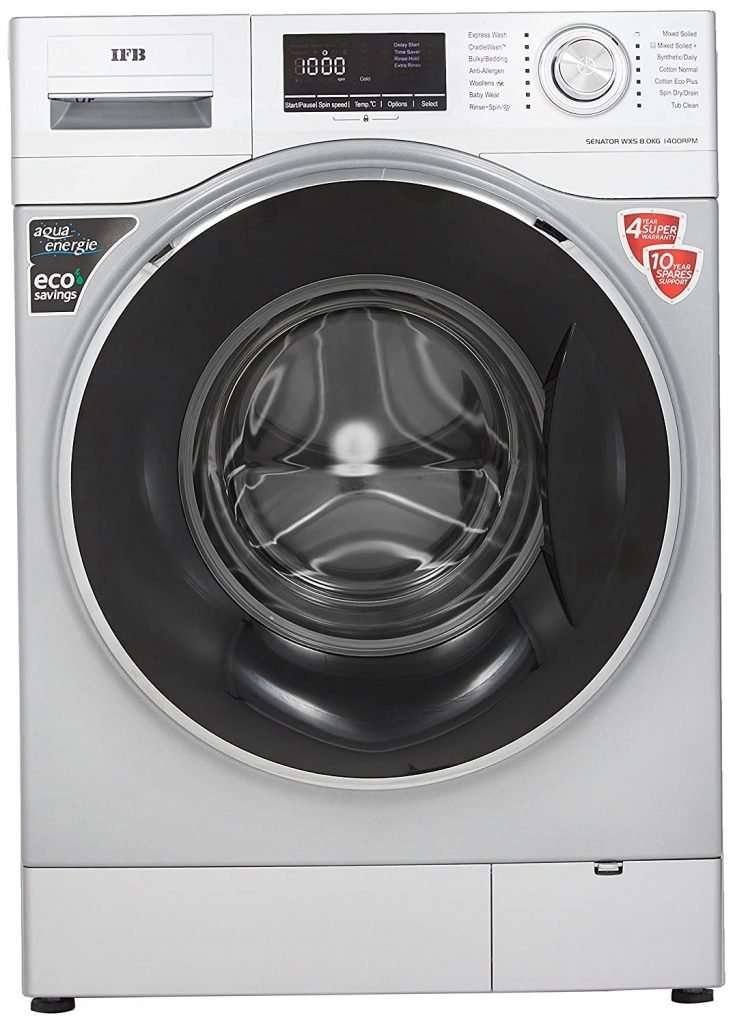 IFB Senator WXS 8kg Fully-Automatic Front Loading Washing Machine