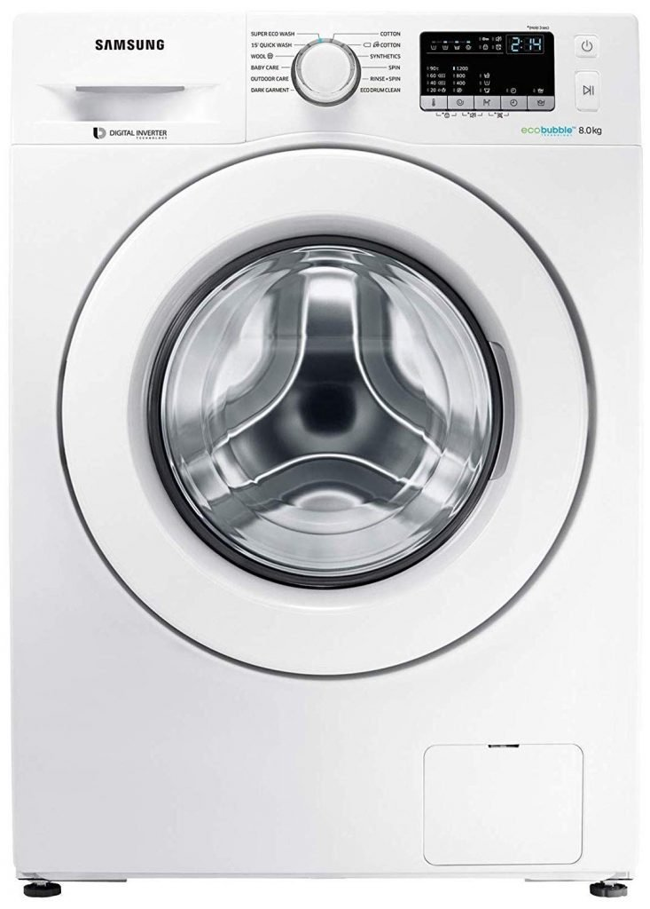 Samsung 8 Kg Fully-Automatic Front Loading Washing Machine (WW80J44G0IW/TL)