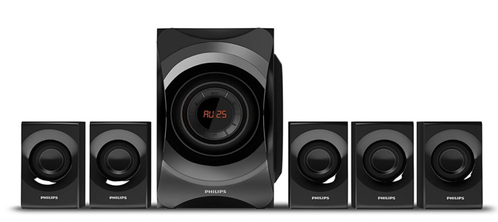 Philips SPA8000B/94 5.1 Channel Multimedia Speakers System